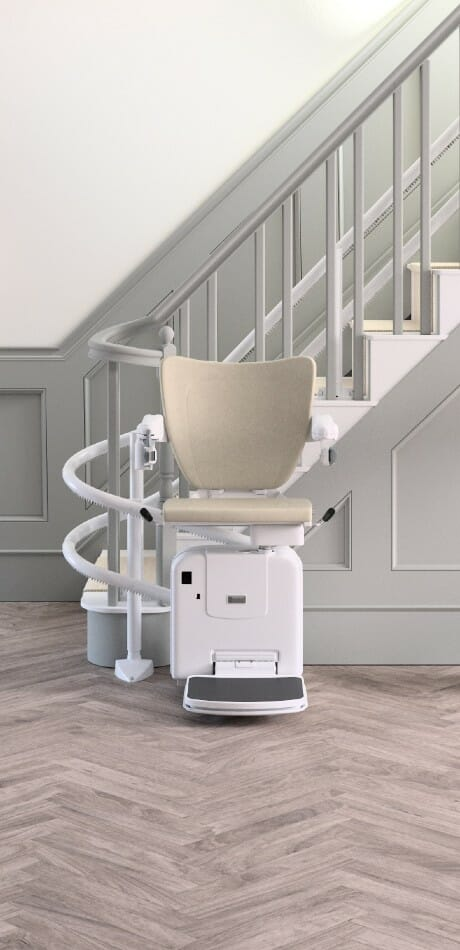 The Handicare 2000 curved stairlift